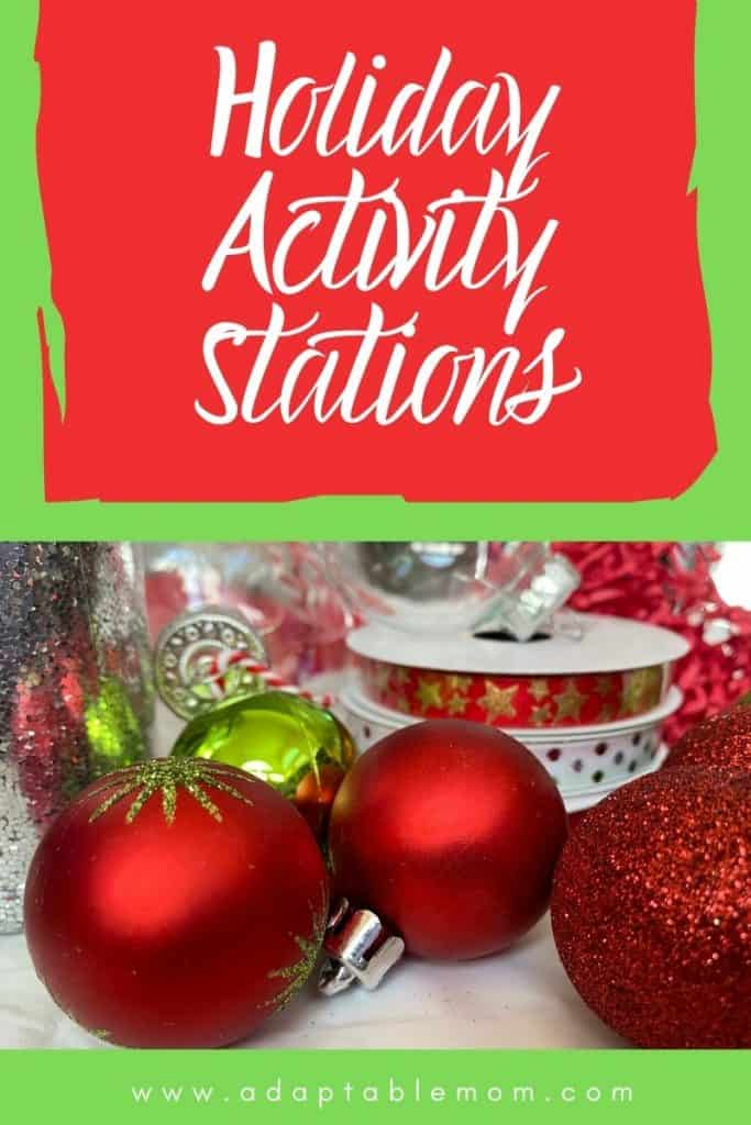 Holiday activity station fun!